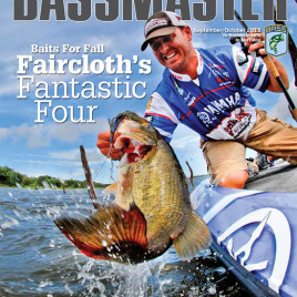 Spybaiting on the cover of Bassmaster Magazine