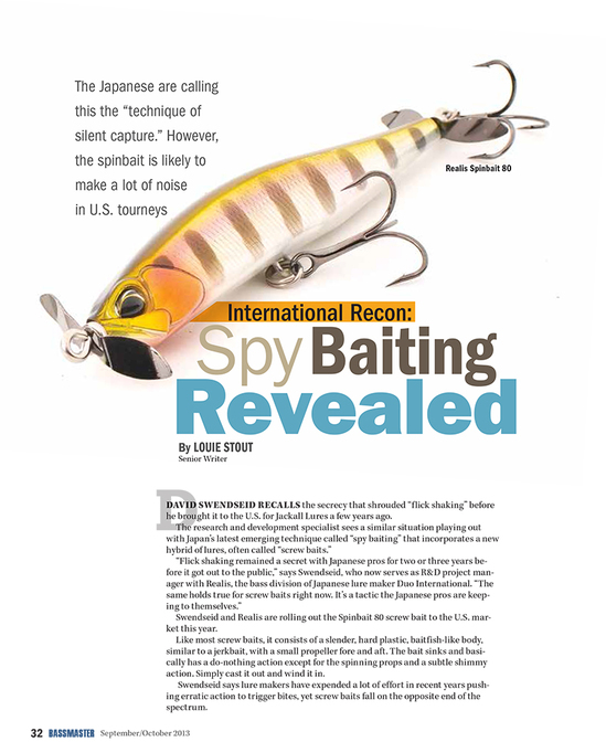 Spybaiting Article in Bassmaster Magazine