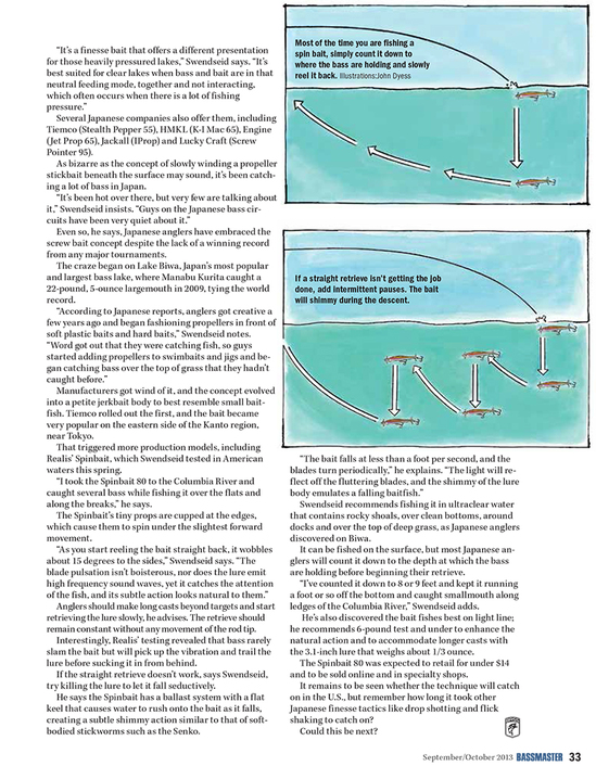 Spybaiting in Bassmaster magazine